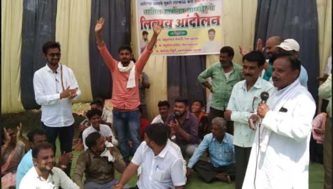 Farmers Agitation : संतप्त शेतक-यांनी तहसील कार्यालयाचाच केला लिलाव!